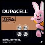4 Pilhas ALCALINAS LR44/A76 Duracell 1.5V Tamanho Botão
